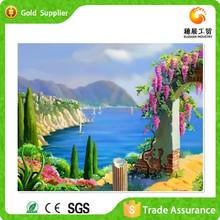 Factory supply interior wall decor art diamond painting 3d beautiful sea scenery paitning