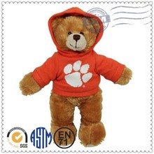 Hot selling plush toys with T-shirt teddy bear, teddy bear with red shirt
