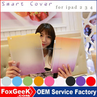 2015 Mew design Smart Cover + back case for ipad 2 3 4 with magnetic Smart Cover Wake / Sleep FUNCTION