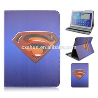 Superman Logo PU Leather Tablet Cover Case For Samsung galaxy Tab 4 10.1inch T530 That Can Flip Stand