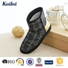 High quality crochet snow boot with heel