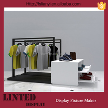 Elegant Looking Clothing Shop Wooden Commercial Display Table