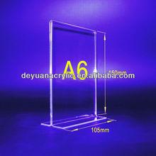 Transparent/Custom Acrylic Menu Holder with Good Quality