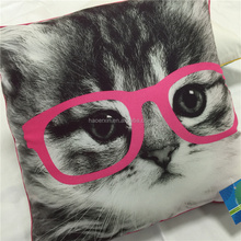 Cute cartoon pet images 100% Combed Cotton Cushion/pillow