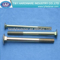 carriage bolts DIN603 class4.8/8.8/10.9 zinc plated high quality