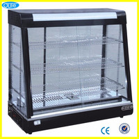 Commerical Luxurious Cured glass bread warmer display showcase