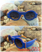 desinger colorful skateboard wood sunglasses china with lower MOQ and price