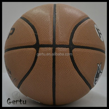 custom logo printed basketball with BSCI audit