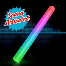 Sound activated led foam stick ,4.5*40cm ,color changing