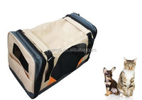 Dog Carrier Bag travel/folding fabric dog crate wholesale/Soft Sided Cat Bag OEM