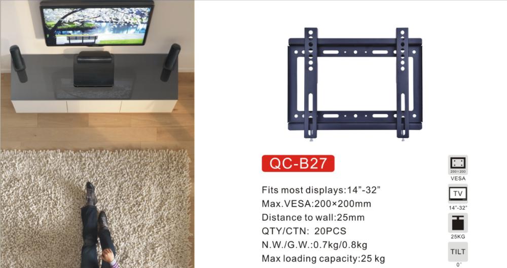 popular tv lcd soporte de montaje en pared fijo stents simple soporte de la venta caliente