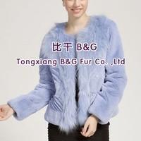 BG28579 Real Rex Rabbit Fur Jacket