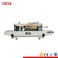 Efficient economic continuous automatic plastic bag sealing machine