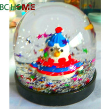 Christmas Tree plactic water globe with colorful starburst