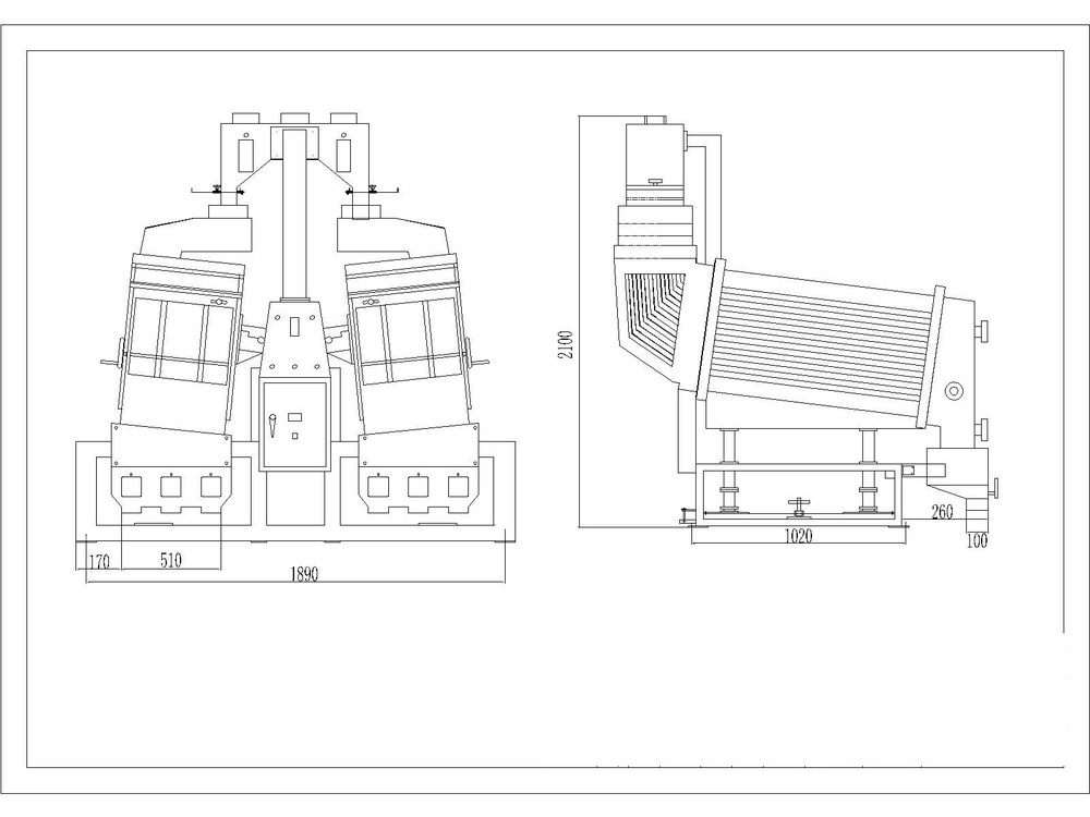 Rice Milling Machine Drawing Mgcz Double Body Gravity Paddy