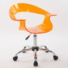 Acrylic Plastice Modern New design swivel chair