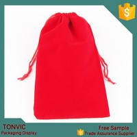 10*15 christmas gift drawstring velvet gift bag jewelry pouch for wholesale wedding 100pieces one bag