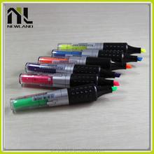New colorful flat shape nite writer highlighter bulk plastic advertising marker pen classical gift set