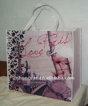 the 2012 newest recycle lamnated non woven shopping bag