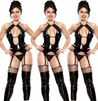 In stock item sexy leather lingerie for women nude lingerie sexy hot