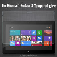 Top Quality Anti-shatter Premiun Clear Screen Cover for Microsoft Surface 3 Glass Screen Protective Film Protector