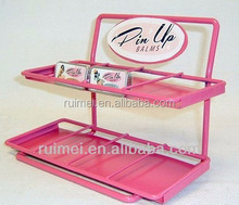 2 Tiers Pink Metal Counter Display Stand