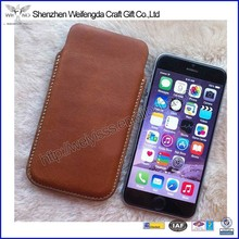 Simple design high quality real leather shenzhen phone case for iphone6