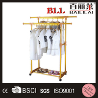 Floor Stand Collapsible Golden aluminum metal clothes drying rack