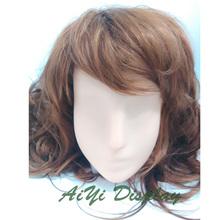 Cor da pele feminina manequim cabeça para peruca Sunglass Scarf Hat jóias Display
