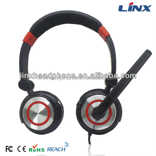 Headset with microphone black for playstation 3 ps3 pc cell phone