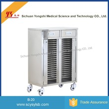 Stainless Steel Medical Hospital Patient Record File Holder Trolley on Sale