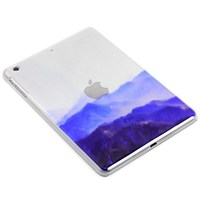 Simi-transparent basic case for apple iPad air 1 2 with The peak painting design