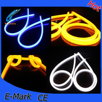 white and yellow led flexible strip light with turning light for all cars accessories