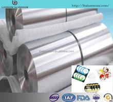 29 30 45 mm Width Food/Industry Aluminium Foil Jumbo for Wholesale(5-9mic)