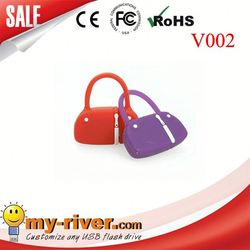 Custom lovely bag shape USB Flash Drive pvc golf bag usb