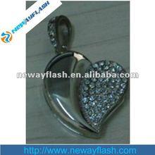 New design diamond heart shape usb memory flash