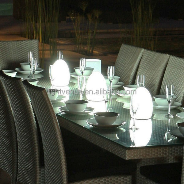 Modern Battery Operated Wireless Led Restaurant Color Changing Egg - Led table lights for restaurants