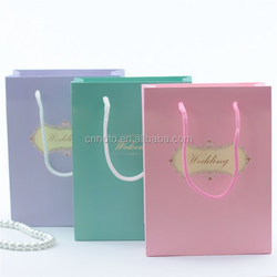 2015 wholesale luxury paper shopping bag cute paper bag