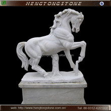 Large Outdoor White Marble Stone Horse Sculpture