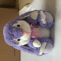 High quality and eco-friendly plush toys of lovely purple rabbit