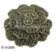 Fashion hot sale new big flower shape antique zinc alloy beads 2012