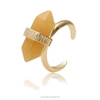 Bijouterie singer stone ring jewelry,lipstick shap gold cuff ring(SWTPR1322)