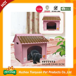 Easy Assembly Pink Dog Outdoor Wood House