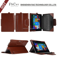 Alibaba China removable tablet protective cover for Microsoft Surface 3 keyboard leather case 10.8 inch