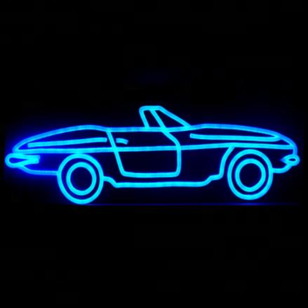 Acrílico personalizado Eletrônico Led Forma Do Carro Sinal de Néon