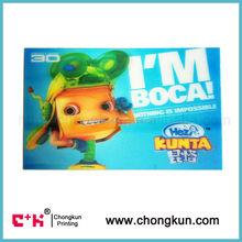 hot sale lenticular postcard of cartoon 3D
