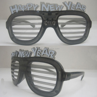 Happy new year window-blinds funny flash shine led glasses for all party event