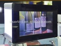 "21.5"" LCD transparent advertising display box"