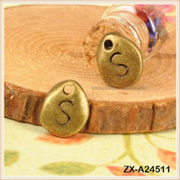 Vintage Fashionable Jewelry Accessories Pendant Irregular Alphabet Initia S-tar Cheap Pendants For Jewelry Making