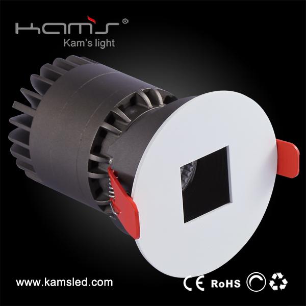 Tiltible 75mm ritaglio cob luce di soffitto quadrata anti abbagliamento ha condotto il downlight
